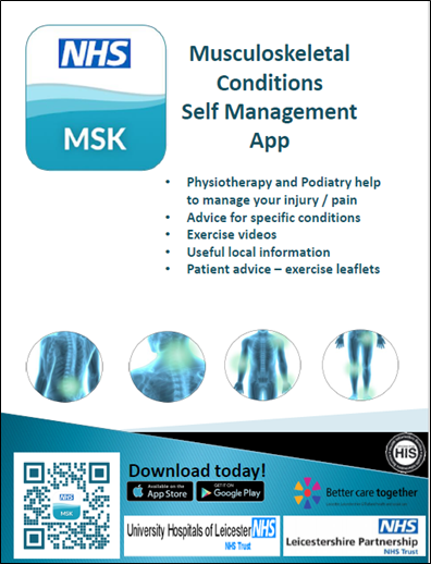 MSK Conditions: Self-Management app